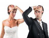 stock photo of adultery  - False marriage between two people not sincere - JPG