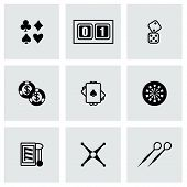 picture of poker machine  - Vector Casino icon set on grey background - JPG