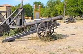 picture of cannon  - old cannon in a museum in the open air - JPG