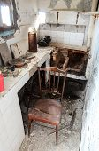 picture of abandoned house  - Interior Of An Abandoned House in Canary Islands Spain - JPG