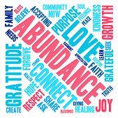foto of abundance  - Abundance word cloud on a white background - JPG