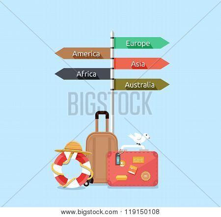 poster of Travel Asia America, Europe, Africa, Australia