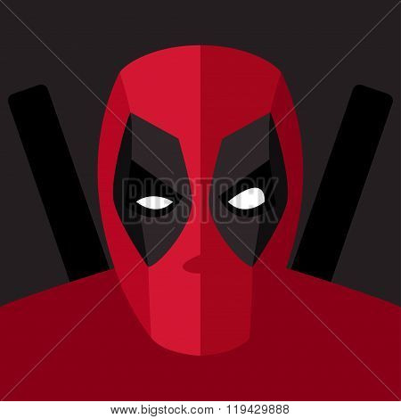 Super Hero Red Mask For