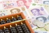 Chinese Currencies With Abacus