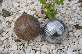 Two Boules Next To Each Other.