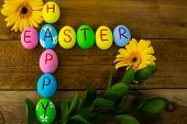 ������, ������: Easter Eggs And Daisy