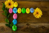 ������, ������: Easter Eggs And Yellow Flowers