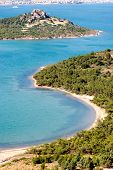 Beautiful coast view in Ayvalik Turkey