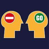 Постер, плакат: Stop or Go Mindset