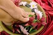 Footcare and pampering at the spa