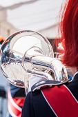 Постер, плакат: Various Instruments And Details From A Music Band Of Windband