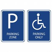 ������, ������: Blue Parking Signs