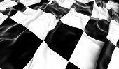 Checkered flag - 3D render