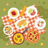 Постер, плакат: Picnic food Catering