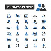 Постер, плакат: business people icons business people logo business people vector business people flat illustrati