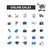Постер, плакат: online sales icons online sales logo online sales vector online sales flat illustration concept
