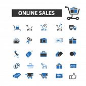 ������, ������: online sales icons online sales logo online sales vector online sales flat illustration concept