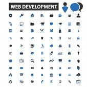 Постер, плакат: web development icons web development logo web development vector web development flat illustrati