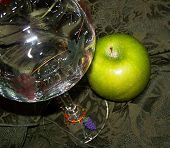 Apple With Wine Glass