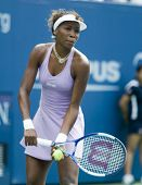 NEW YORK - AUGUST 29: Venus Williams competes at the U.S. Open August 29, 2005 in Flushing, New York.