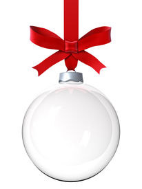 stock photo of christmas ornament  - Empty Christmas ornament - JPG