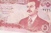 stock photo of tyranny  - an iraqi 5 dinar note - JPG