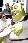 LOS ANGELES - MAY 20: Shrek, Antonio Banderas at a ceremony where Shrek receives a star on the Holly