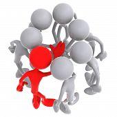 Team Leadership Huddle All Hands Together