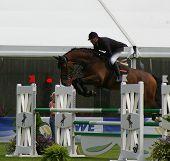 Gilbert Böckmann riding  Lord Petz,