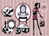 beauty and style vector set
