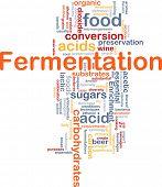 Background concept wordcloud illustration of fermentation food process