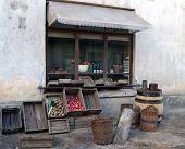 Old-Looking Shop Window