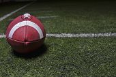 Generic Football background on a turf field