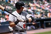 Indianapolis Indians first baseman Matt Hag