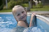 Girl Smilimg In Pool