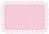 Polka Dot Lace Place Mat, Pastel Pink
