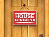 House for rent, real estate, home, door, advertisement