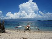 stock photo of carabao  - Ocean View off Carabao Island in the Philippines - JPG