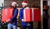 Great Surprise. Prepare Huge Surprise Gift. Men Compete Who Has Larger Size. Bigger Gift Battle. Men poster