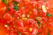 Closeup Of Salsa