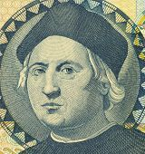 BAHAMAS - CIRCA 1992: Christopher Columbus (1451-1506) on 1 Dollar 1992 Banknote from Bahamas. Itali