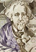 PORTUGAL - CIRCA 1993: Teofilo Braga (1843-1924) on 1000 Escudos 1993 Banknote from Portugal. Portug