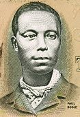 JAMAICA - CIRCA 1993: Paul Bogle (1820-1865) on 2 Dollars 1993 Banknote from Jamaica. Jamaican Baptist deacon and national hero.