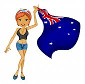 illustration of woman with australian flag