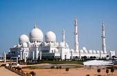 vista de la mezquita Sheikh Zayed de Abu Dhabi