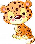 Divertido zoo. Ilustración de Jaguar lindo
