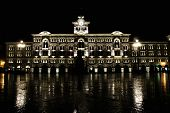Italy, Trieste, piazza Unita d'Italia by night