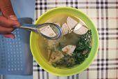 Eating Noodles ,noodle Or Vietnamese Noodles Dish poster