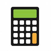 Calculator Icon. Flat Calculator Symbol, Illustration poster