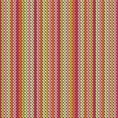 Trendy Vertical Stripes Knitting Texture Geometric Vector Seamless. Fair Isle Sweater Knitwear Fabri poster